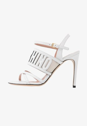 High heeled sandals - bianco
