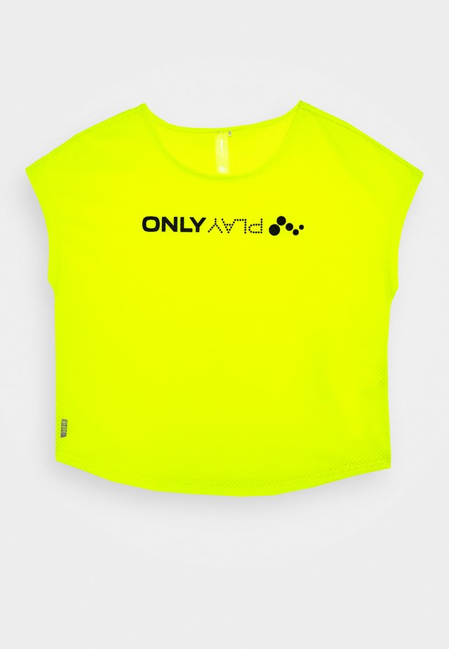 ONPJACEI LOOSE TRAINING TEE  - T-shirt imprimé - yellow/black