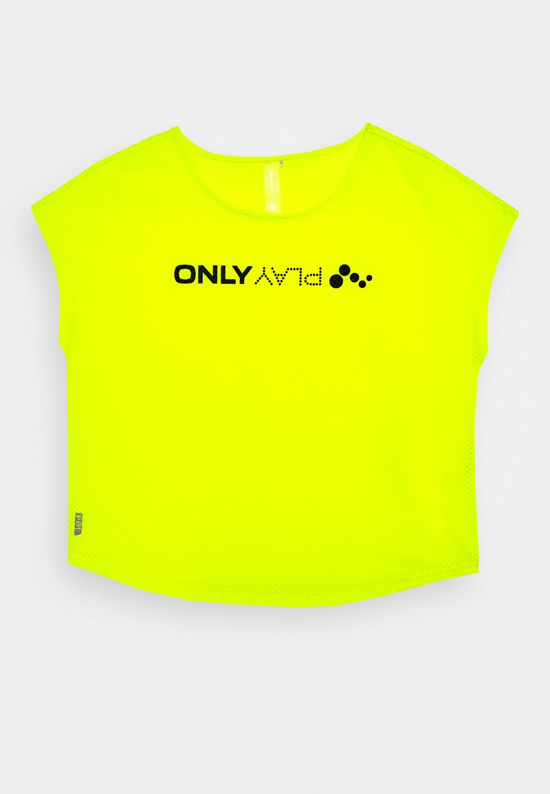 ONLY PLAY Petite - ONPJACEI LOOSE TRAINING TEE  - T-shirt con stampa - yellow/black