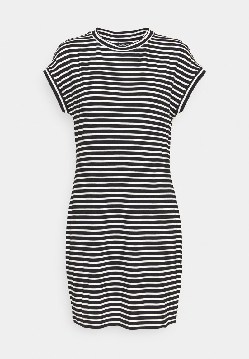 Even&Odd - Jersey dress - black/white