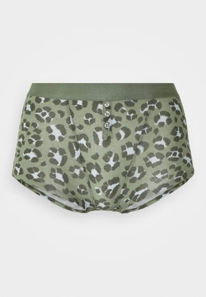 SLEEP SHOR BUTTONS PRINTED - Briefs - olive fun