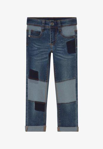KIDS DENIM PATCHWORK - Slim fit jeans - blue denim