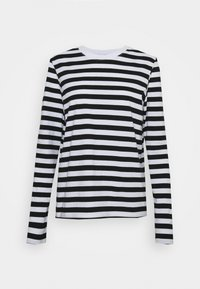 Pieces - Long sleeved top - black/bright white - 4