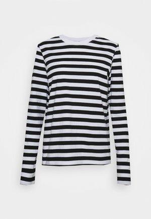 Topper langermet - black/bright white