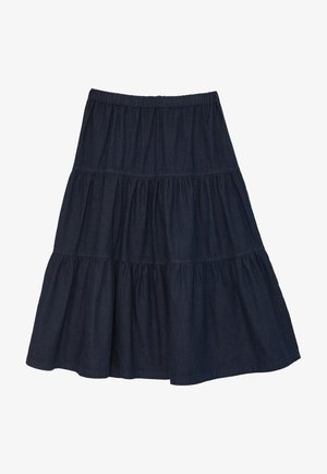 Pleated skirt - dunkle waschung