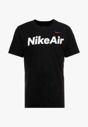 AIR TEE - T-shirt z nadrukiem - black/university red