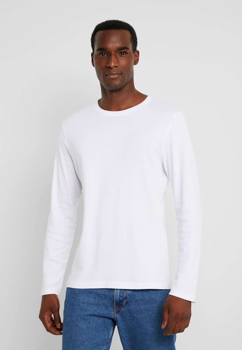 TOM TAILOR - BASIC LONGSLEEVE - Langærmede T-shirts - white