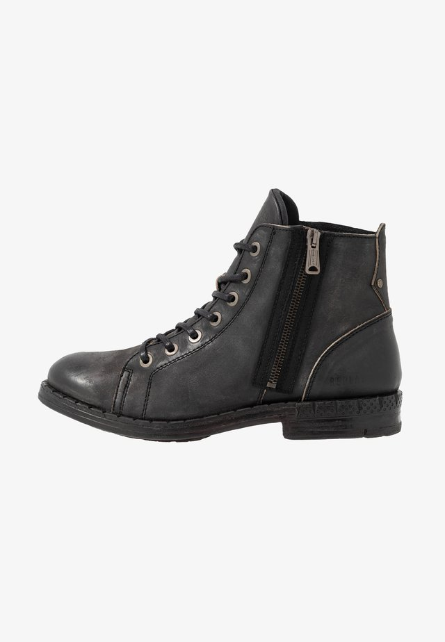 LEICESTER - Lace-up ankle boots - stone