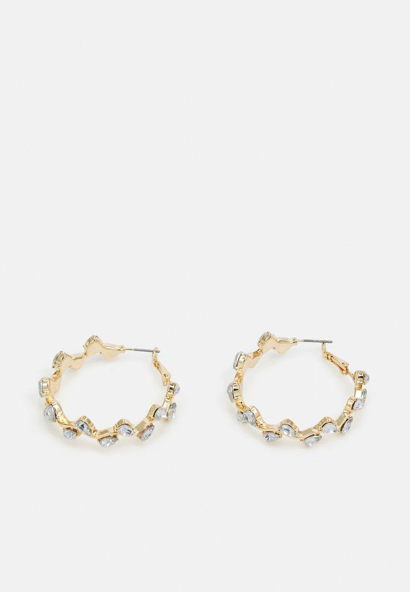 Pieces - PCZARI HOOP EARRINGS - Earrings - gold-coloured/clear
