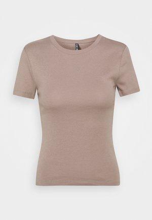 PCLOBBIE TEE LOUNGE - Basic T-shirt - cinder