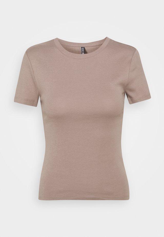 PCLOBBIE TEE LOUNGE - T-shirt basic - cinder