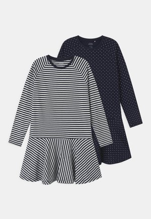 NKFVALENTINA 2 PACK - Žerzejové šaty - dark sapphire