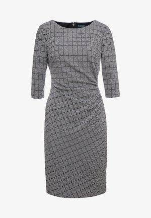 DRESS - Shift dress - black/white