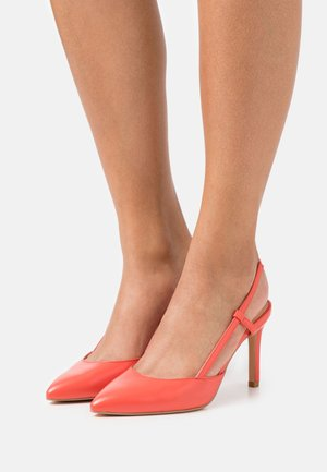 ONLPEACHES SLING BACK - Zapatos altos - coral