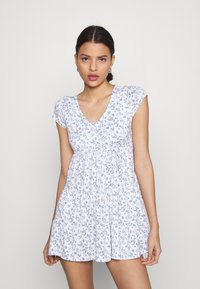 Hollister Co. - DRESS - Jerseykjole - white - 0