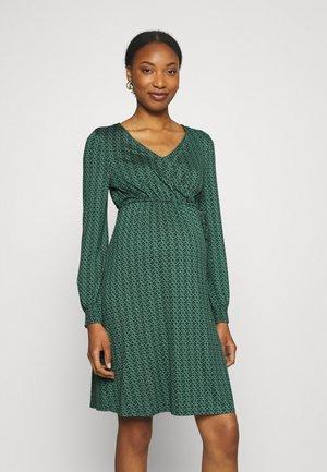 DRESS NURSING - Žerzejové šaty - teal green