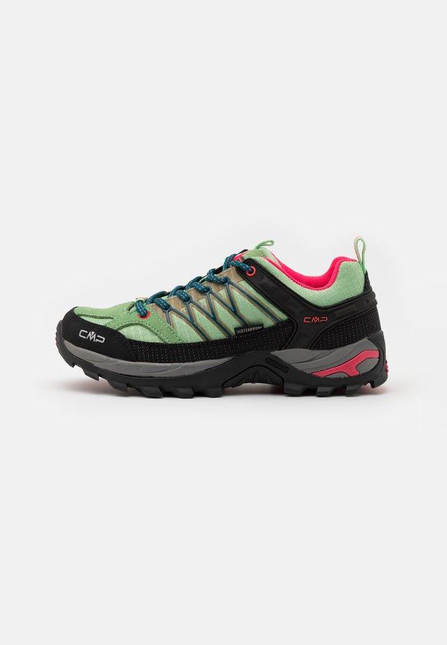 RIGEL LOW TREKKING SHOE WP - Chaussures de marche - leaf/petrol