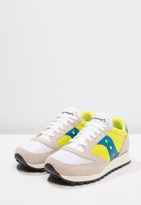 Saucony - JAZZ ORIGINAL VINTAGE - Trainers - white/neon yellow - 2