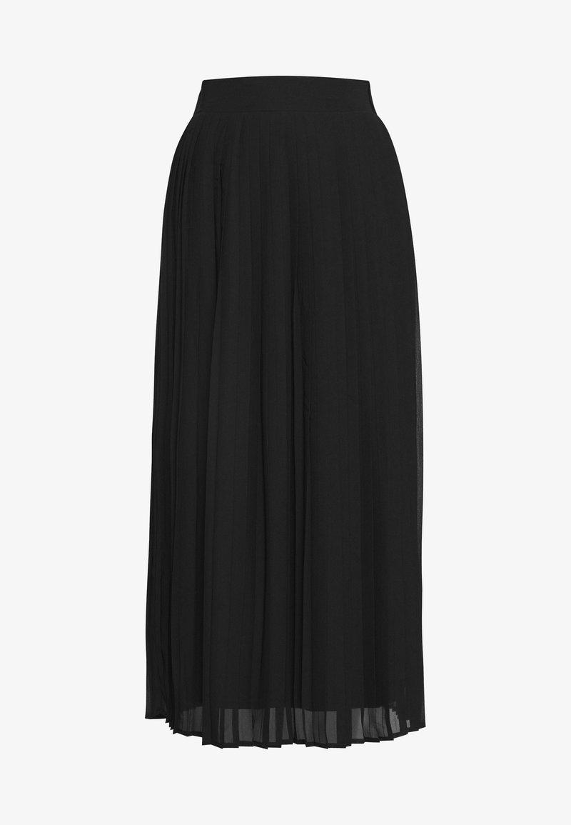 Vila - VIPLISSEA MIDI SKIRT - A-line skirt - black