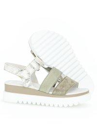 Gabor - Platform sandals - mottled light green/white - 2