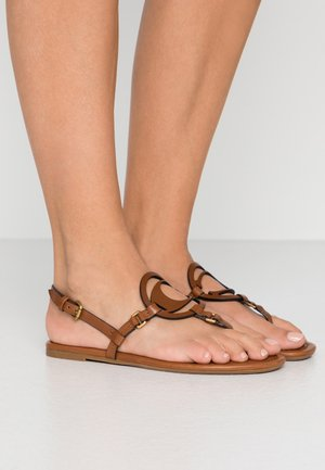 JERI - T-bar sandals - saddle