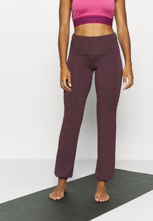 LONG PANTS ROLL DOWN - Tracksuit bottoms - bordeaux