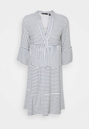 VMHELI DRESS PETIT - Day dress - snow white/navy blazer