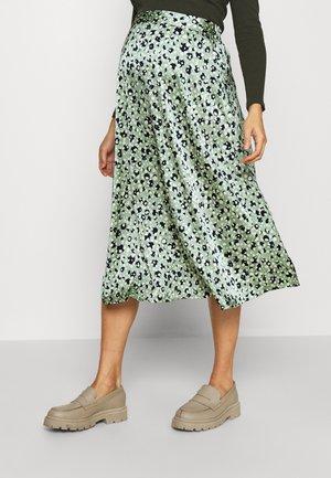 PCMKATE MIDI SKIRT - A-line skirt - hedge green