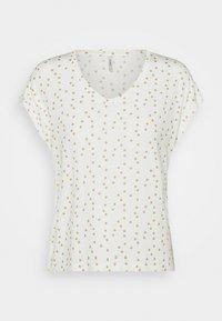 ONLY - ONLMANYA GLITTER V NECK  - Print T-shirt - cloud dancer - 3
