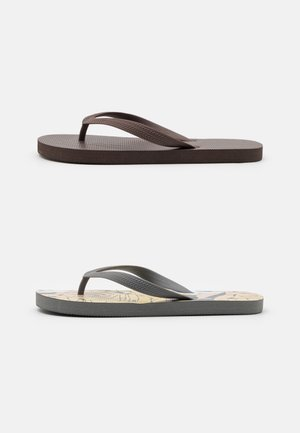 2 PACK RECYCLED - T-bar sandals - yellow/biscuit