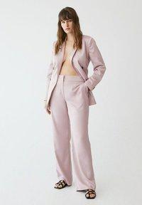 Violeta by Mango - Trousers - rosa - 3