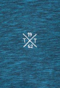 TOM TAILOR - FINE STRIPED WITH DETAILS - Polo shirt - aquarius blue - 2