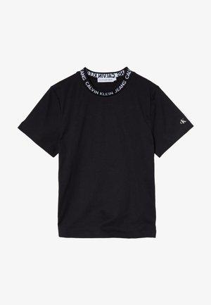 LOGO INTARSIA - T-shirt print - black