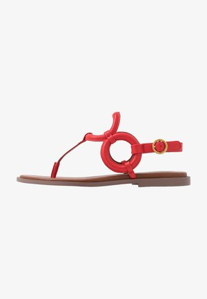 T-bar sandals - cherry