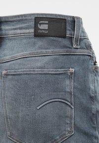 G-Star - NOXER NAVY PENCIL BUTTON - Denim skirt - worn in smokey night - 3