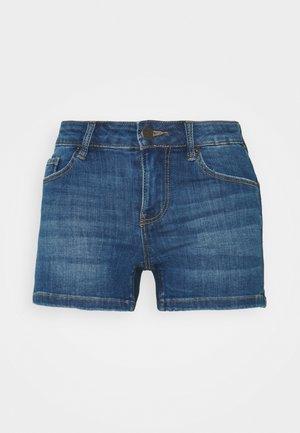 VMLYDIA TAP - Jeansshorts - medium blue denim
