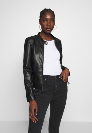 VEGAN NEW CAROL - Faux leather jacket - black