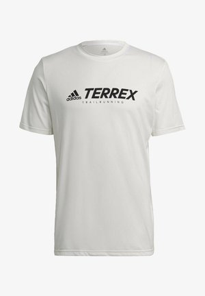 TERREX PRIMEBLUE TRAIL FUNCTIONAL LOGO T-SHIRT - T-shirt con stampa - white