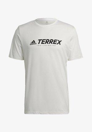 TERREX PRIMEBLUE TRAIL FUNCTIONAL LOGO T-SHIRT - T-shirt med print - white
