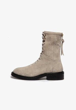 MISTY - Lace-up ankle boots - summer taupe
