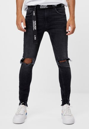 MIT RISSEN - Jeans Slim Fit - black