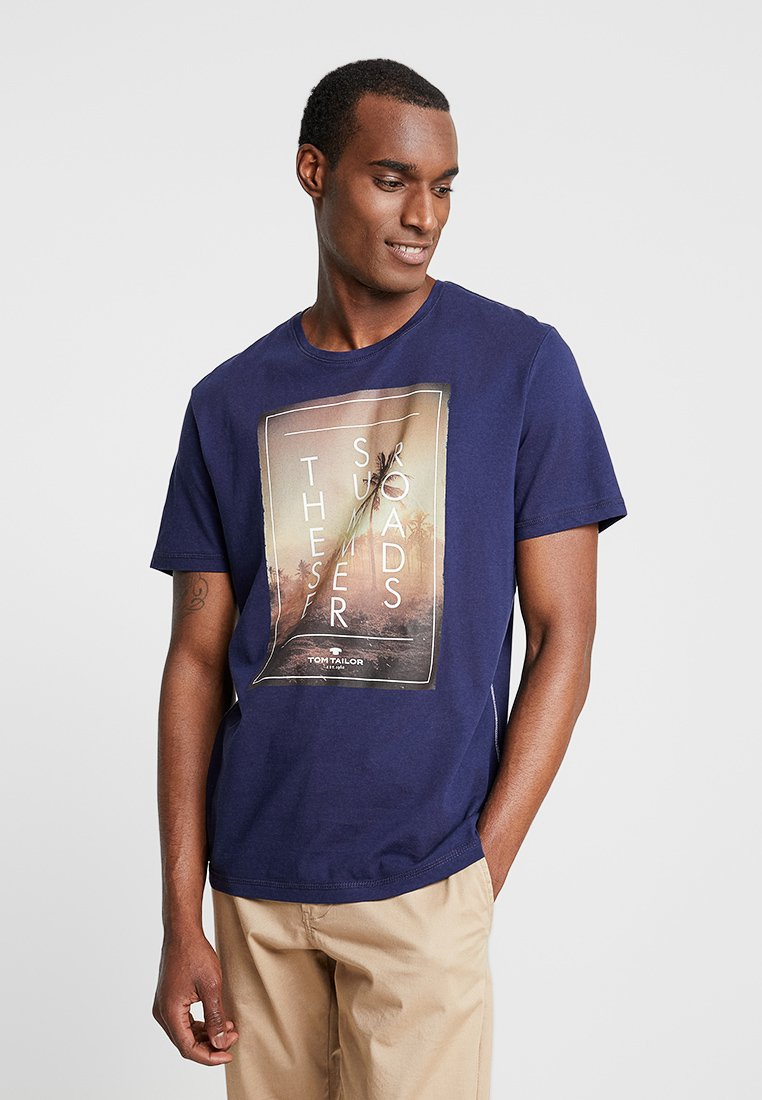 TOM TAILOR - TEE - Print T-shirt - true dark blue