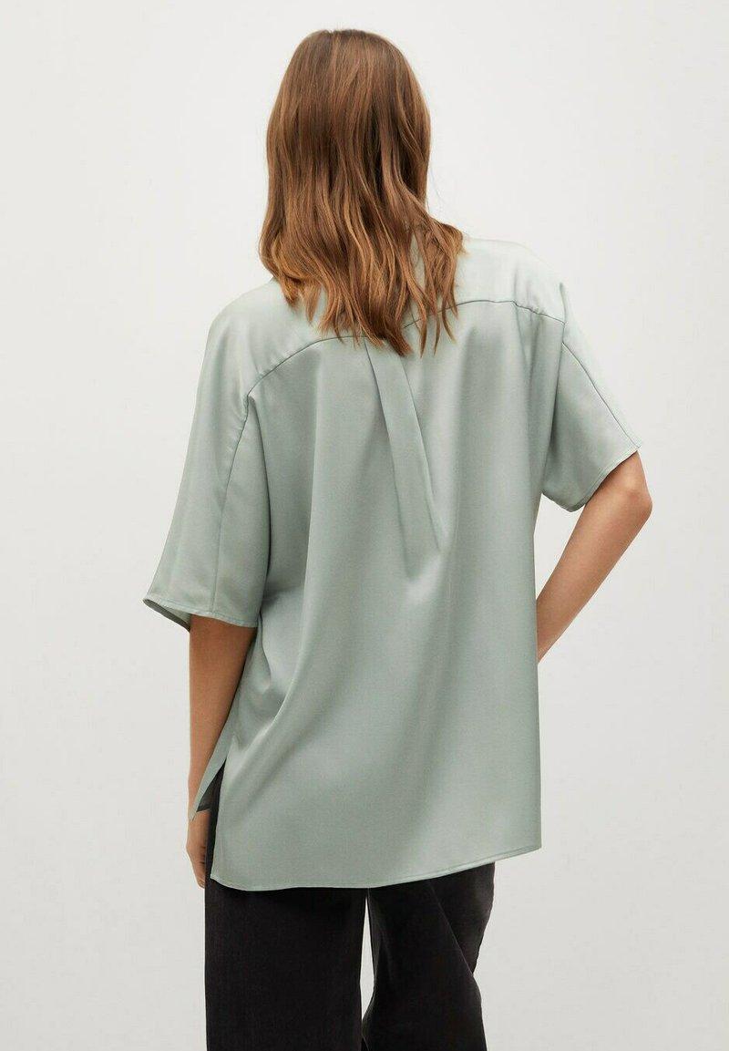 Mango - MARITA - Button-down blouse - vert d´eau