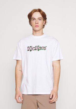 EMBROIDERED LOGO UNISEX - Print T-shirt - white