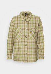 Vero Moda - VMELIN CHECKED OVERSIZED - Button-down blouse - oatmeal/green/blue - 3