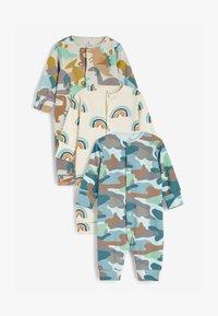 Next - 3 PACK  - Pyjamas - blue/brown/white - 0