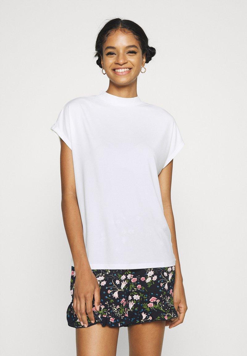 Vila - VICATHRINE FUNNEL NECK - Basic T-shirt - cloud dancer