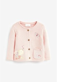 Next - BUNNY EMBROIDERED CARDIGAN (0MTHS-2YRS) - Vest - pink - 0