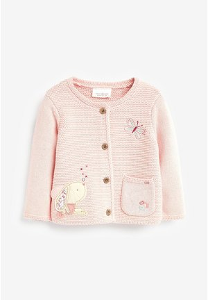 BUNNY EMBROIDERED CARDIGAN (0MTHS-2YRS) - Kardigan - pink
