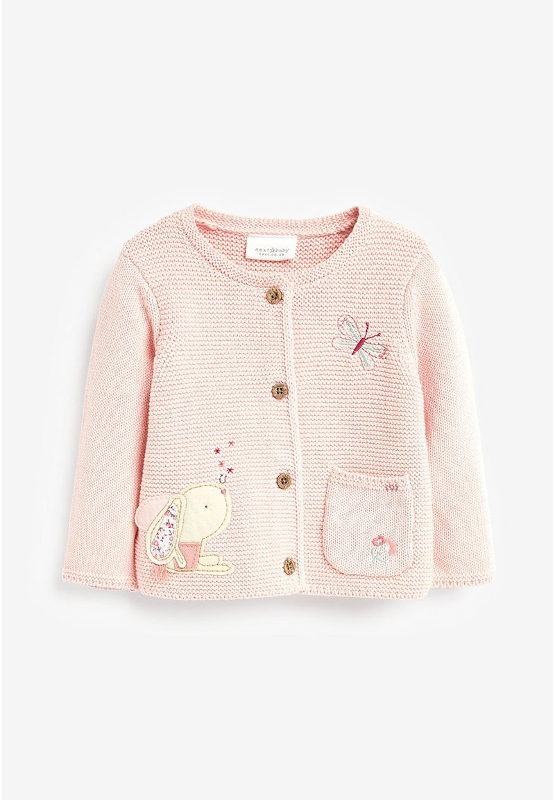 Next - BUNNY EMBROIDERED CARDIGAN (0MTHS-2YRS) - Vest - pink